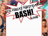 Wwe Birthday Party Invitations Free Wwe Party Swimming Pool Parties and Party Invitation