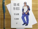 Wwe Wrestling Birthday Cards Romantic Card the Rock Dwayne Johnson Cute by Yeaohgreetings