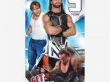 Wwe Wrestling Birthday Cards Wwe Age 9 Birthday Card