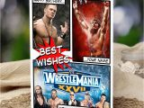 Wwe Wrestling Birthday Cards Wwe Wrestlemania Personalised Birthday Card son