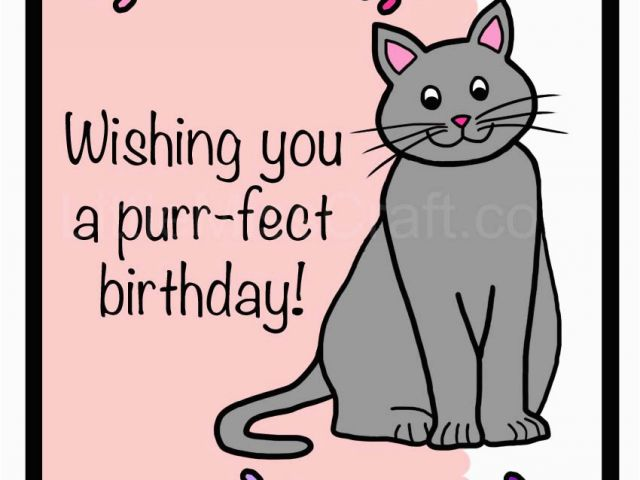 Wwwhappy Birthday Cards 5 Best Images Of Free Printable Cat