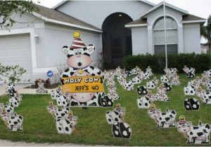 Yard Decorations For 40th Birthday Flocking Tampa Fl Call