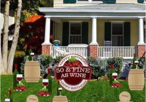 Yard Decorations For 50th Birthday Decoration 39 50 Fine As Wine Set