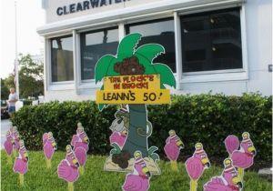Yard Decorations For 50th Birthday Flocking Tampa Fl Call