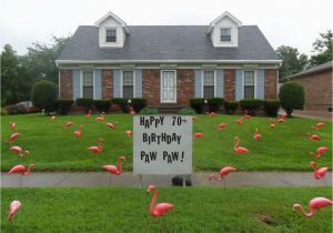 Yard Decorations For 50th Birthday Birthday Yard Flocking