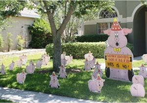 Yard Decorations For Birthday Flocking Tampa Fl Call