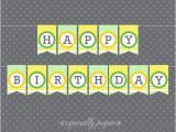 Yellow and White Happy Birthday Banner 26 Best Images About Printable Banners by Especially Paper