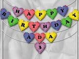 Yellow and White Happy Birthday Banner Items Similar to Diy Printable Happy Birthday Banner