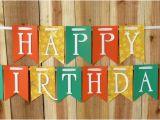 Yellow and White Happy Birthday Banner Yellow Stars Happy Birthday Banner Happy 1st Birthday Banner