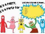Yo Gabba Gabba Birthday Invitations A Yo Gabba Gabba Invitation Taylormade