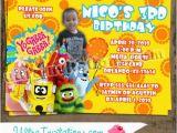 Yo Gabba Gabba Birthday Invitations Yo Gabba Gabba Birthday Invitations Custom Invites