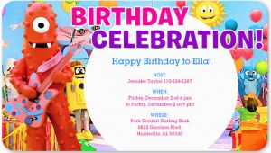 Yo Gabba Gabba Birthday Invitations Yo Gabba Gabba Birthday Invitations Free Invitation