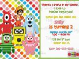 Yo Gabba Gabba Birthday Invitations Yo Gabba Gabba Printable Invitations Free