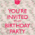 You are Invited to My Birthday Party You 39 Re Invited to My Birthday Party Poster Jules Keep