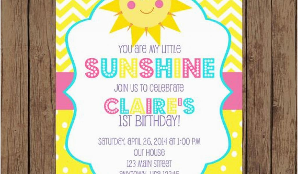 Download by size:Handphone Tablet Desktop (Original Size). Back To You are My Sunshine 1st Birthday Invitations