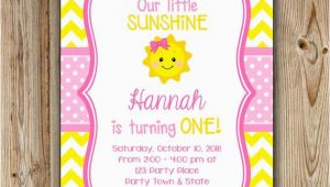 You are My Sunshine 1st Birthday Invitations You are My Sunshine Birthday Invitation Sunshine Birthday