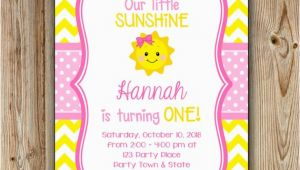 You are My Sunshine Birthday Party Invitations You are My Sunshine Birthday Invitation Sunshine Birthday