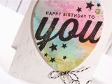 You Tube Birthday Cards Watercolor Balloon Birthday Card Youtube