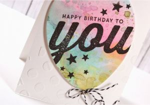 You Tube Birthday Cards Watercolor Balloon Card Youtube
