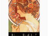 Zazzle Birthday Cards Art Nouveau Lady Birthday Card Zazzle Com