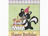 Zazzle Birthday Cards Cute Cartoon Skunk Birthday Greeting Card Zazzle