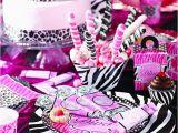 Zebra Decorations for Birthday Party Diva Zebra Birthday Express