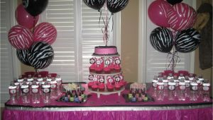 Zebra Print Birthday Decorations Party Tales Birthday Party Zebra Print and Hot Pink