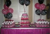 Zebra Print Birthday Party Decorations Party Tales Birthday Party Zebra Print and Hot Pink