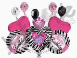 Zebra Print Decorations for A Birthday Party 11 Pc Zebra Princess Happy Birthday Balloon Bouquet Girl