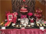 Zebra Print Decorations for A Birthday Party Dessert Table Setup Zebra Print theme Party themes