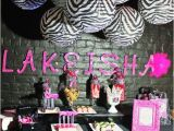 Zebra Print Decorations for A Birthday Party Zebra Hot Pink Birthday Party Ideas Photo 1 Of 24