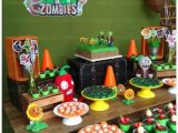 Zombie Birthday Party Decorations Kara 39 S Party Ideas Plants Vs Zombies themed Birthday Party