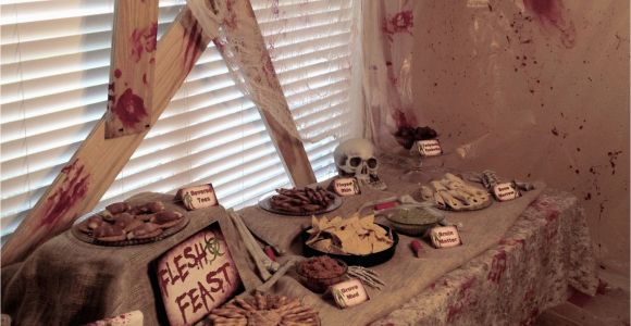 Zombie Birthday Party Decorations Real Party Zombie Apocalypse A Well Crafted Party