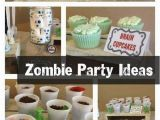 Zombie Birthday Party Decorations the Partying Zombies Boy S Birthday Spaceships and Laser