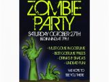 Zombie Birthday Party Invitations Personalized Walking Dead Invitations