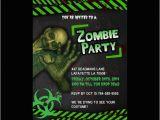 Zombie Birthday Party Invitations Printable Zombie Invitations for A Teen Zombie Party