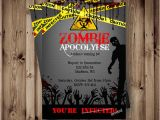 Zombie Birthday Party Invitations Printable Zombie Invitations for A Teen Zombie Party Omg