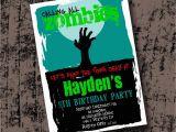 Zombie Birthday Party Invitations Zombie Birthday Party Invitation Printable