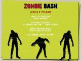 Zombie Birthday Party Invitations Zombie Party Invitation Wording