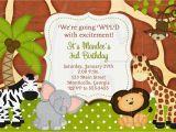 Zoo Birthday Invitations Free Jungle Zoo Safari Birthday Invitation or Baby Shower