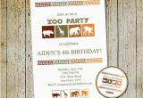 Zoo Birthday Invitations Free Zoo Birthday Invitation Printable Safari Party Invite Thank