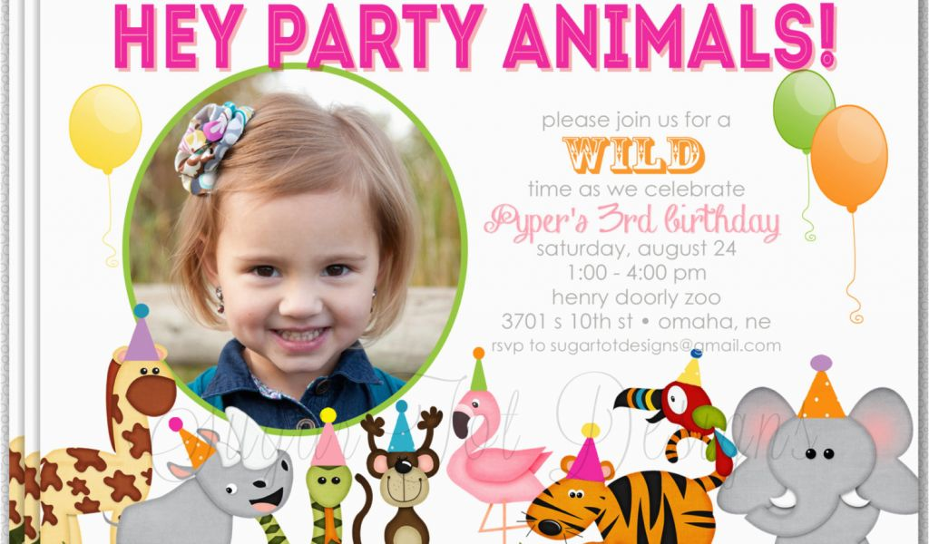 Download By SizeHandphone Tablet Desktop Original Size Back To Zoo Birthday Invitations Free