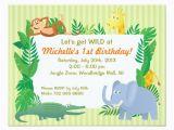 Zoo themed Birthday Party Invitations Jungle Safari Zoo themed Birthday Invitation Card Zazzle