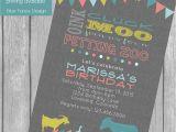 Zoo themed Birthday Party Invitations Petting Zoo Birthday Party Invitation Bunting Banner Farm