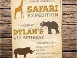 Zoo themed Birthday Party Invitations Printable Safari Expedition Birthday Invitation Zoo