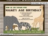 Zoo themed Birthday Party Invitations Safari or Zoo Party Invitations Template Birthday Party