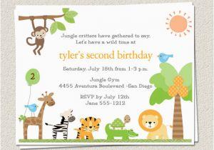 Zoo Themed Birthday Party Invitations Bagvania Ideas