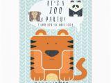 Zoo themed Birthday Party Invitations Zoo Party themed Birthday Invitation Card Zazzle
