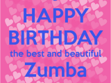 Zumba Birthday Card Happy Birthday the Best and Beautiful Zumba Instructor