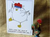 Zumba Birthday Card Zumba Chicken A Truly Bonkers Greetings Card Folksy